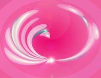 rosa swirl Royaltyfri Fotografi