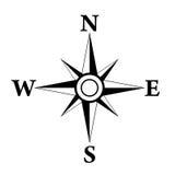 Rosa symbol för vind royaltyfri illustrationer