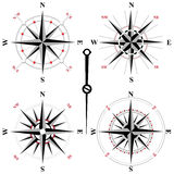 Rosa symboler för svartvit vind Royaltyfria Bilder