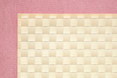 rosa tableclothtextur för bakgrund Arkivbilder