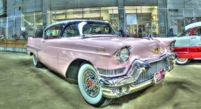 Rosa 50-tal Cadillac Royaltyfri Fotografi