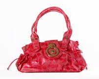 Rosa Tasche auf einem weißen Hintergrund Stockbild