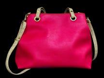 Rosa Tasche getrennt Stockfoto