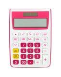 Rosa Taschenrechner Stockfoto