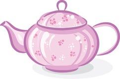 rosa teapot Arkivfoton