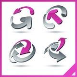rosa tecken för företag Arkivbild