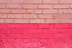Rosa tegelsten Arkivbilder