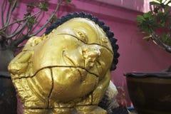 Rosa tempel i Thailand Arkivfoto