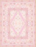 Rosa Teppich mit abstrakten Blumen lizenzfreie abbildung