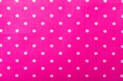 Rosa textur för bomullstyg Arkivfoto