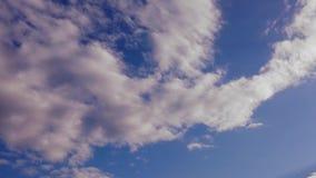 Rosa timelapse för molnig himmel lager videofilmer