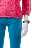 Rosa tröja med den klassiska klockan Arkivfoto