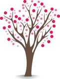rosa tree stock illustrationer
