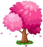 rosa tree stock illustrationer