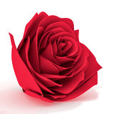 Rosa tridimensional do vermelho em um fundo branco Foto de Stock