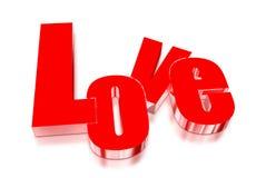 Amore 3D Fotografia Stock Libera da Diritti