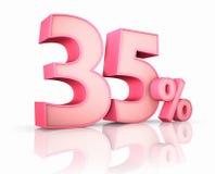 Rosa trinta e cinco por cento ilustração stock