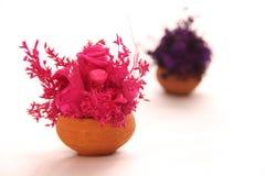 Rosa trockener Blumenblumenstrauß Lizenzfreies Stockfoto