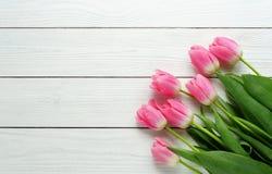 rosa tulpan för bukett Royaltyfria Bilder