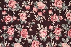 Rosa tyg för tappningbakgrund Royaltyfria Bilder