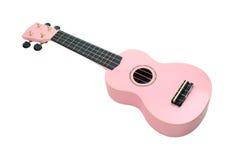 rosa ukulele Fotografering för Bildbyråer