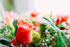 Rosa in un bello mazzo Fotografia Stock