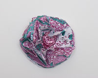 Rosa- und Aqua Paper-Blume stockfoto