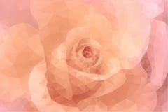 Rosa und beige Hochzeitshintergrund der Blumenmode des abstrakten Dreieckpolygons Lizenzfreie Stockfotos