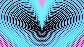 Rosa und blaue Pastellherzen wachsen, vj Schleife, radgefahrene Animation stock abbildung