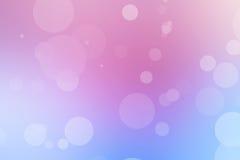 Rosa und blauer bokeh Pastellhintergrund stockfotografie