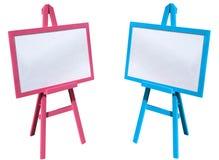 Rosa und blauer, weißer Vorstand Lizenzfreie Stockbilder