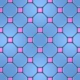 Rosa und blaues Mosaik Lizenzfreies Stockfoto