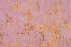 Rosa und Creme, verkratzter, getragener Schmutz-Hintergrund, Tapete Stockbild