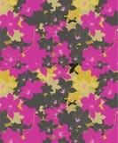 Rosa und Gray Orchids Floral Seamless Design lizenzfreie abbildung
