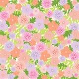 Rosa und lila Blumenhintergrund - vector Illustration eps10 Lizenzfreies Stockfoto