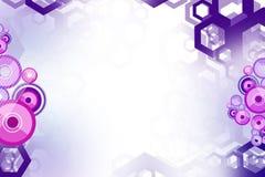 rosa und purpurrotes Hexagon und Kreis, abstrack Hintergrund Stockfotos