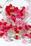 Rosa und rote Perlen Lizenzfreies Stockfoto