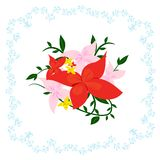 Rosa und roter schöner Garten Lizenzfreies Stockbild