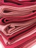 Rosa und rotes Falte placemat lizenzfreies stockfoto