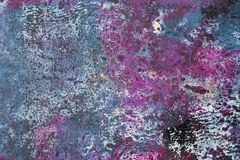 Rosa und Teal Abstract Painted Texture Background stockbilder