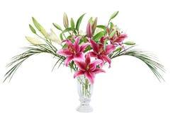 Lilien-Vase lizenzfreie stockfotografie