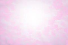 Rosa und weiße Tapete der Karte unscharfen Hintergrund Valentinsgrußes Süße Farben und Pastellfarben Lizenzfreie Stockfotografie