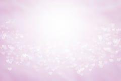 Rosa und weiße Tapete der Karte unscharfen Hintergrund Valentinsgrußes Süße Farben und Pastellfarben Lizenzfreies Stockfoto