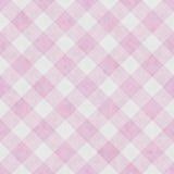 Rosa-und weißergestreifter Gingham-Fliesen-Muster-Wiederholungs-Hintergrund vektor abbildung