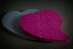Rosa und weißes Herz Lizenzfreies Stockbild