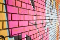 rosa vägg för tegelsten Royaltyfria Foton