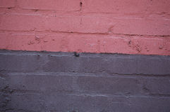 rosa vägg för tegelsten Royaltyfri Foto