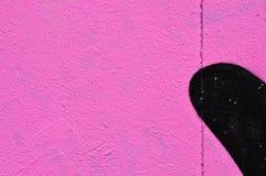 Rosa väggsvartform Arkivfoton