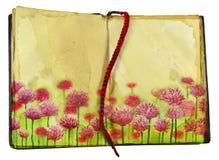 Rosa växt av släktet Trifolium på boksidor Fotografering för Bildbyråer