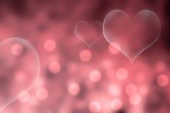 Rosa valentin dagbakgrund Arkivbild